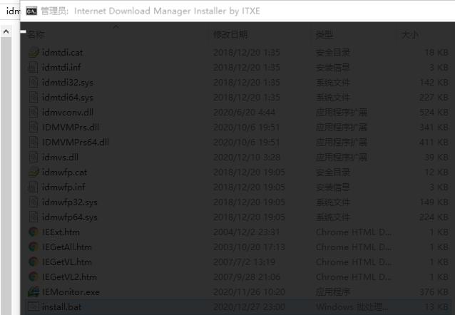 Run it to install IDM